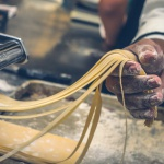 making pasta italian tagliatelle